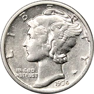 1935 S Silver Mercury Dime 10c About Uncirculated