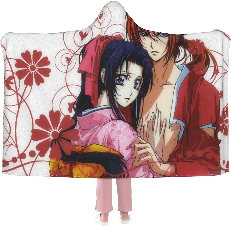 Rurouni Kenshin Great interest Baltimore Mall Tomoe Yukishiro Anime Wea Flannel Blanket Hooded