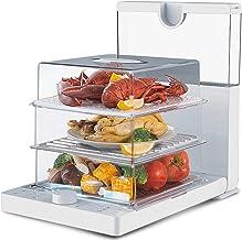 Cuiseur Vapeur électrique 1500W | Minuteur | sans bisphénol | Idéal pour cuire viandes, poissons, légumes, pommes de terr...