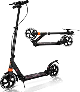 MONODEAL Scooter for Kids 8 Years and Up, Teens, Adults, Big Wheel Kick Scooter Foldable and Lightweight Scooter with Adju...
