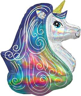 Amscan Rainbow Unicorn Foil Balloon, Multi-Colour, 66 cm x 76 cm, 3937901
