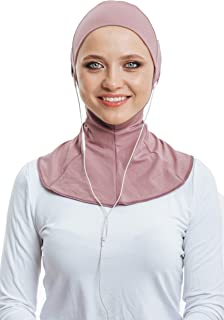 Headphone Hijab, Cotton Under Scarf Tube Cap, Ready to wear Muslim Accessories for Women