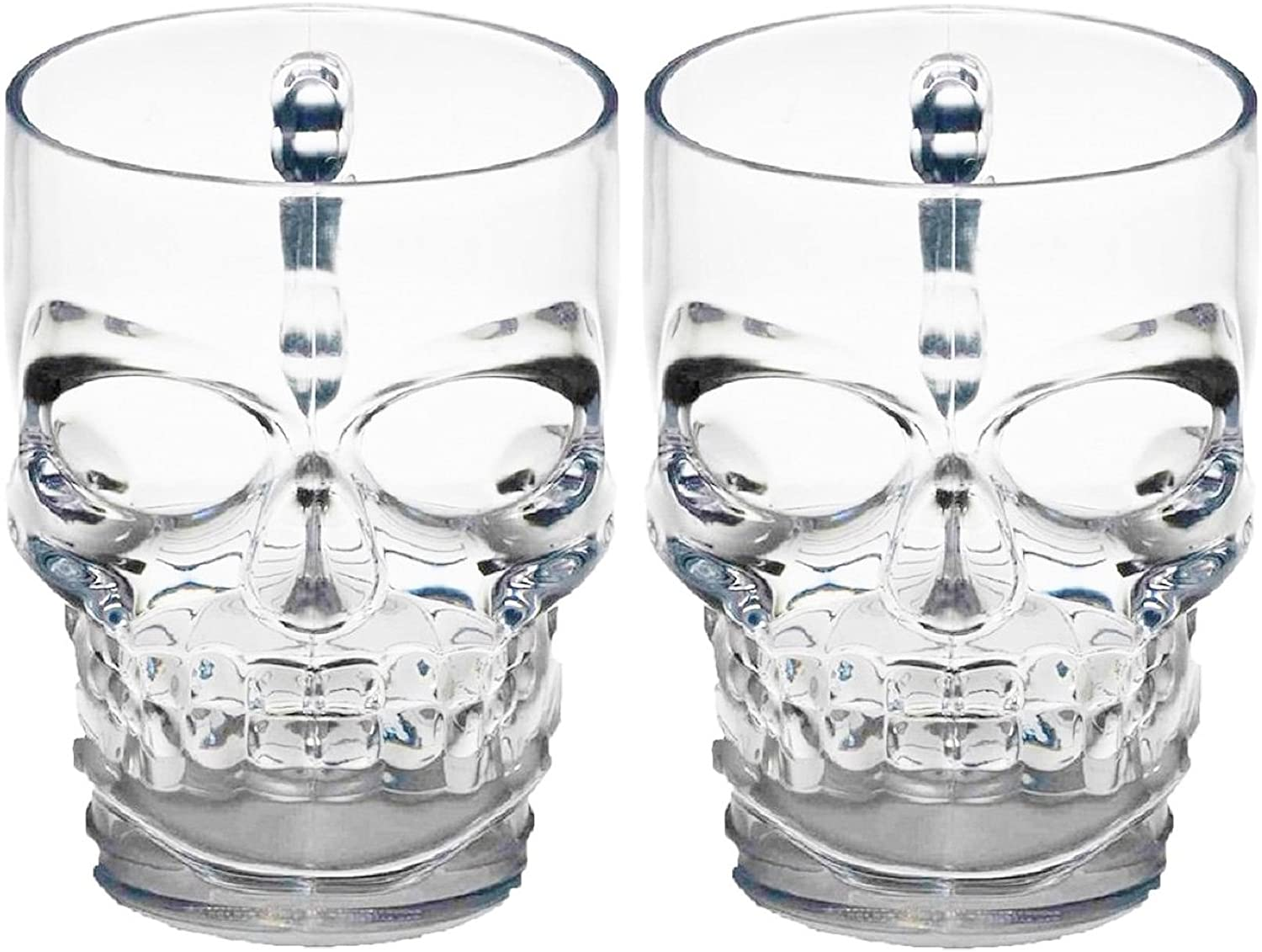 Circleware Skull Face Beer Mug Direct stock discount Set Free shipping anywhere in the nation with Handle Drinking Glasses