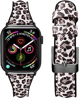 Oitom Apple Watch バンド コンパチブル スポーツ 交換ベルト 本革レザー アップルウォッチバンド ビジネス 柔らかい 耐衝撃 花柄 防汗apple watch series 4/3/2/1対応 38mm 40mm レディース ファッション はんてん柄 38mm