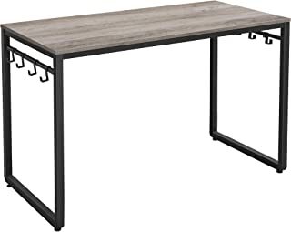 """VASAGLE Computer Writing Desk, 47 Inch Office Study Table, Work from Home, with 8 Hooks, Metal Frame, Industrial, 47.2"""", G..."""