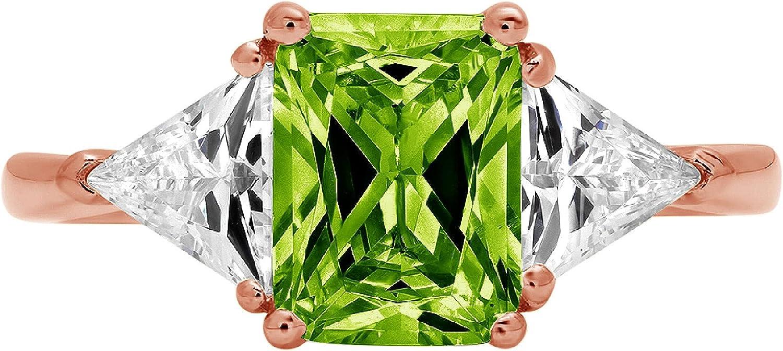 service 2021 autumn and winter new 3.0 ct Emerald Trillion cut Genuine Solitaire Fla Accent stone