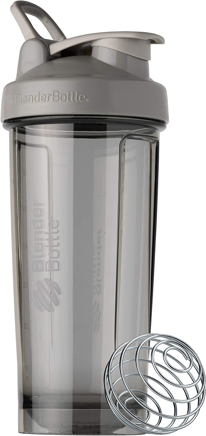 BlenderBottle Shaker Bottle Pro Series Perfect for Protein Shakes and Pre Workout, 28-Ounce, Smoke Grey