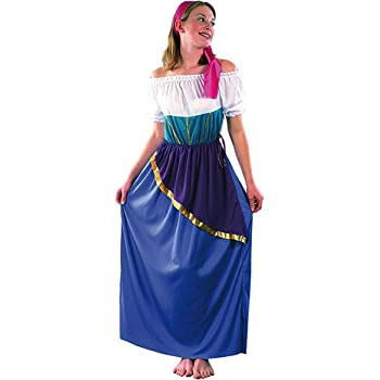 El Carnaval Disfraz Zíngara Mujer Adulto: Amazon.es: Juguetes y juegos