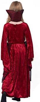 Girl Vampire Costume Outfit, Princess Fancy Dress Up Gown for Halloween Party