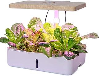 水耕栽培システム、デスクランプ水耕栽培屋内ハーブガーデンキット花野菜用のスマート多機能成長LEDランプ、高さ調節可能