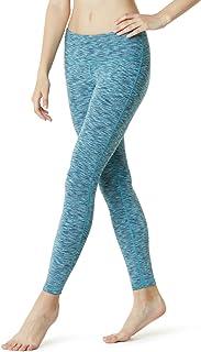 TSLA Yoga Pants Mid-Waist Leggings w Hidden Pocket FYP51/ FYP41 / FYP73, Womens, A-fyp51-sdb, Small
