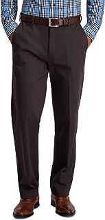 Haggar mens Iron Free Khaki Classic Expandable Waistband Casual Pant Pants