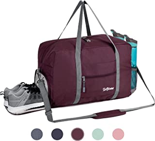 Sports Gym Bag with Wet Pocket & Shoes Compartment, Travel Duffel Bag for Men and Women Lightweight 35L