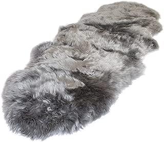 Outlavish Sheepskin Rug Genuine Soft Natural Merino (2' x 6', Grey)