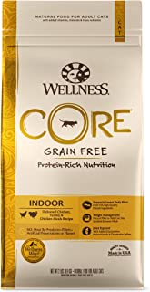 Wellness Core Natural Grain Free Dry Cat Food, Indoor Chicken & Turkey Recipe, 11-Pound Bag