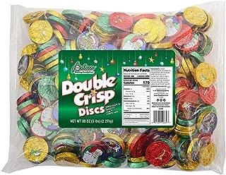 R.M. Palmer Double Crisp Holiday Discs, Bulk Bag of Double Crisp Snowman, Teddy Bear, Santa Clause, Rocking Horse Holiday Designs, Candy, and Snacks (5 LB)