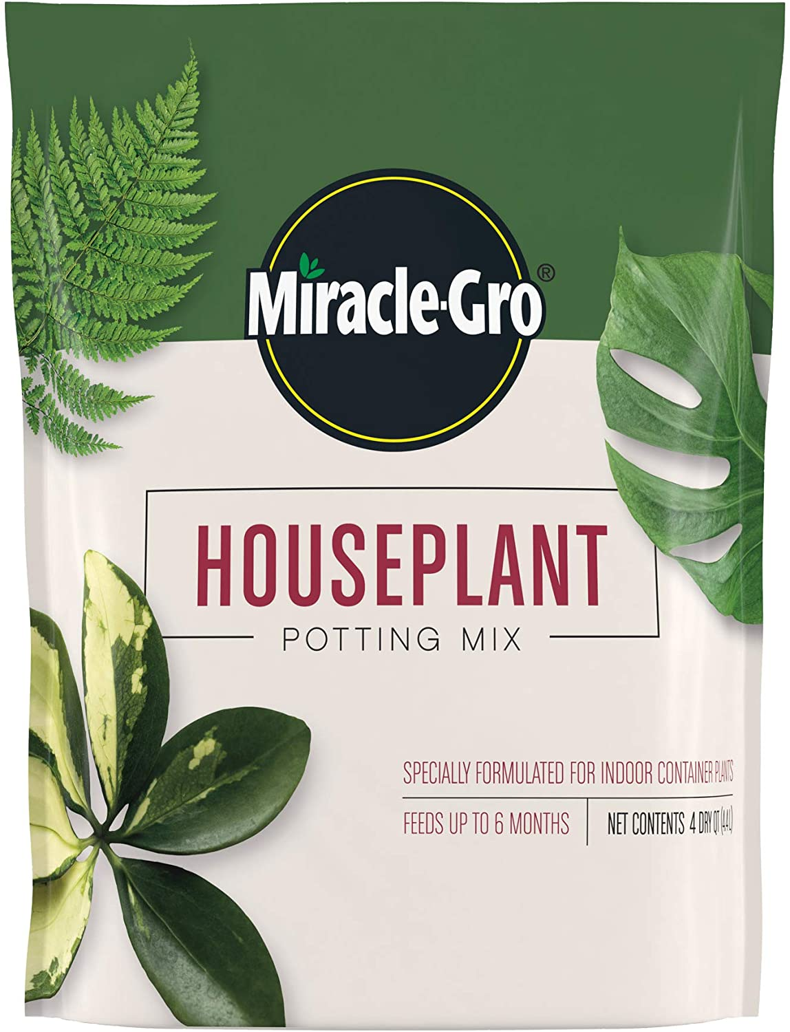 Miracle-Gro Houseplant Excellence Potting Max 63% OFF Mix: Soil for Fertilized Perlite