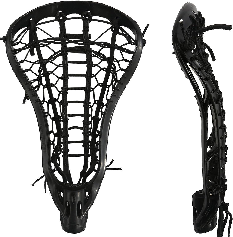 Harrow Ultralight Strung Lacrosse Head, Black