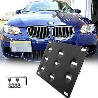 1 Set Front Tow Hook License Plate Bumper Mounting Bracket Fit BMW F30 F32 F33 F36 F10 F11 E84 F25 i3 3 4 5 Series X1 X 3 Mini Cooper R60 R61 E55 E56 [black]