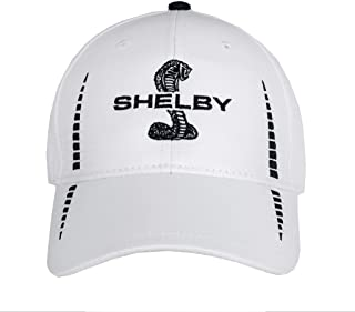 Shelby Snake White Performance Hat with UV Protection | Officialy Licensed Shelby Product | Adjustable, One-Size Fits All...