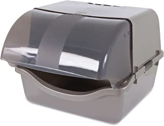 Petmate 22793 Retracting Litter Pan, Brushed Nickel