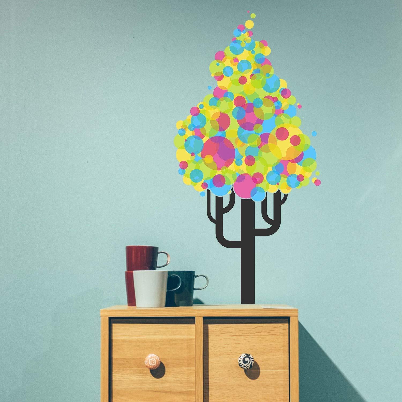 Colorido árbol vivero Pared Pegatina Vinilo decoración Chica Arte Lindo Cuarto de Juegos Kid calcomanía Rama Abedul Naturaleza Peel y Stick Color Mural Grande: Amazon.es: Hogar