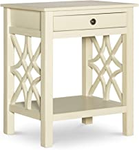 Linon End Table, Antique White