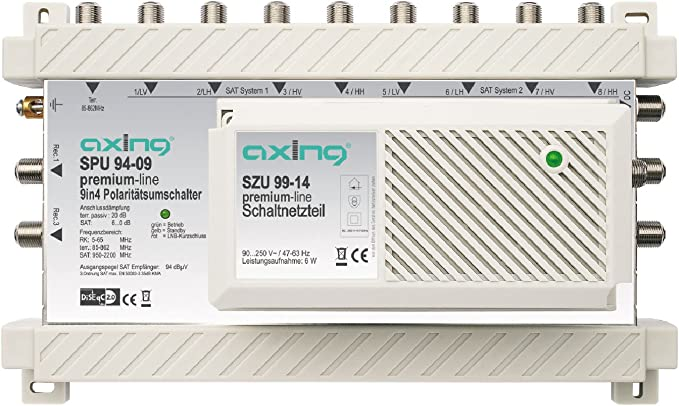 Axing Spu 910 09 Sat Multischalter 10 Teilnehmer Diseqc Elektronik