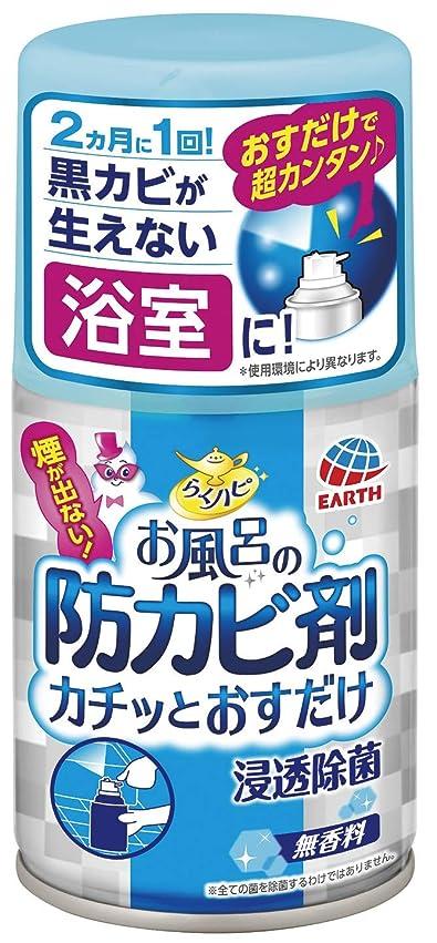 誤砂の単にアース製薬 らくハピ お風呂の防カビ剤 カチッとおすだけ 無香料 50ml