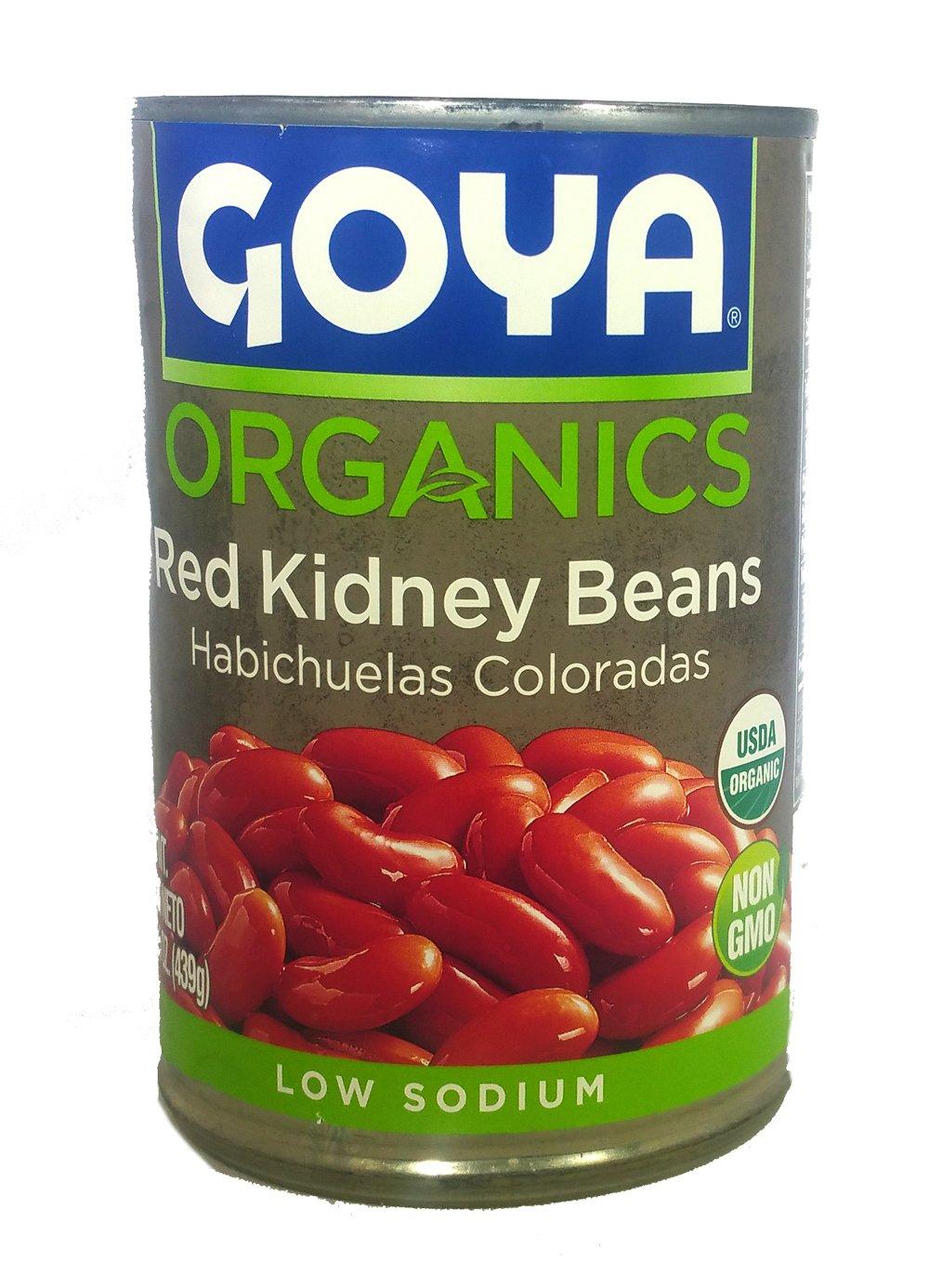 Goya Red Mesa Mall Kidney Beans Organic Non GMO 15.5 - Low Oz 4 Sale Special Price Sodium