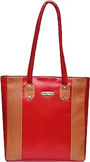 Fristo Women Handbag(FRB-107) Red and Tan