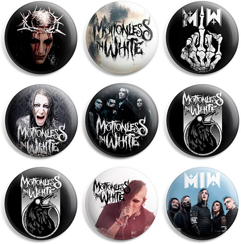 Motionless In White Pinback Buttons Pin Badges P Inch 1 - Price reduction 2021 spring and summer new 25mm