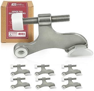 Jack N' Drill Hinge Pin Door Stop (7 Pack) - Convenient Door Stopper for Door Hinges | Durable, Heavy Duty Metal Cons...