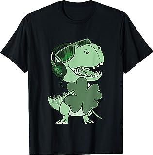 Feliz día de San Patricio T-Rex Dinosaur Boys, Feliz día de San Pat T-Rex Dinosaurio Día de San Patricio Camiseta