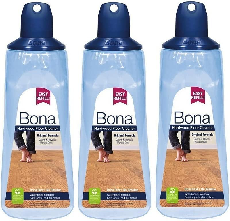 Bona WM700054001 Hardwood Floor Cleaner 3 Pack 34 Oz Cartridge