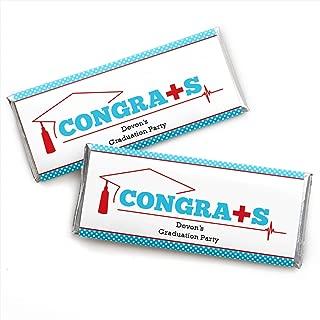 Personalized Nurse Graduation - Custom Medical Nursing Graduation Party Favors Candy Bar Wrapper - Set of 24