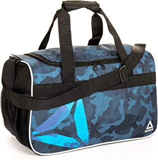 Warrior II Small Gym Bag for Men and Women, Compact Sports Duffle Bag (Blue Camo)