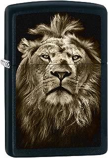 Zippo Lighter: Lion Eyes - Black Matte 76152