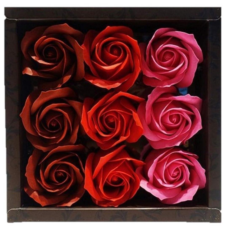 バスフレグランス バスフラワー ローズフレグランス レッドカラー お花の形の入浴剤 プレゼント ばら