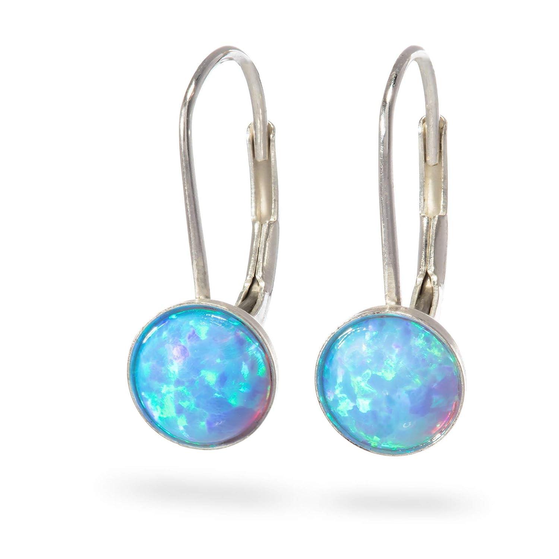Opal Earrings Free shipping New Sterling Silver Leverback Dangle 4 years warranty and hook Opa Drop