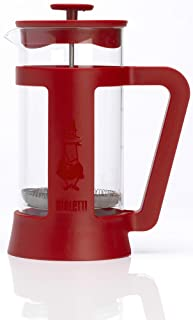 Bialetti, 06708, Trendy Stainless Steel Coffee Press 8-Cup Red 並行輸入品