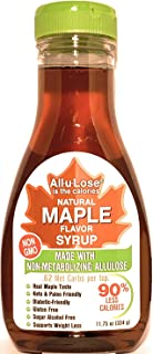 Maple Syrup All-u-Lose, Natural, Non-GMO, Low Carbs & Calories made with Allulose