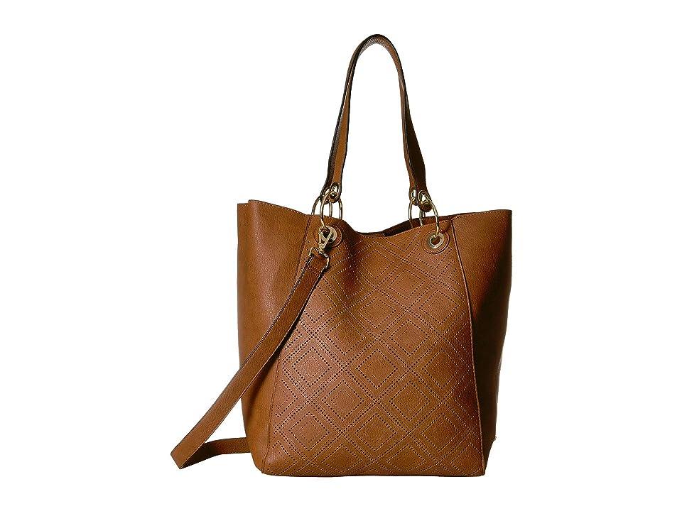 Steve Madden Bwilde Perf (Cognac) Tote Handbags