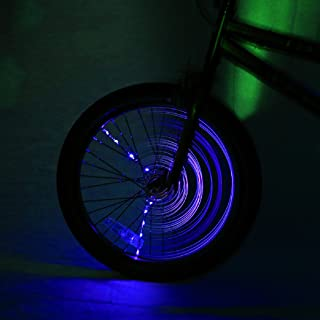 Brightz SpokeBrightz LED Bicycle Spoke Accessory Light (for 1 Wheel), Purple