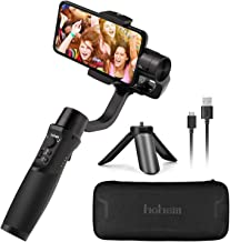 Hohem iSteady Mobile Plus, 3-Axis Handheld Gimbal Stabilizer for Smartphones iPhone Smartphone Gimbal for iPhone 11 Xs Max Xr X 8 Plus Android Smartphones for Youtuber, Video Blogger
