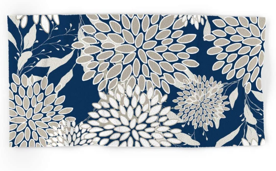 Society6 Great interest Leaves and Blooms Blue Gray Bombing new work by on Megan Han Morris