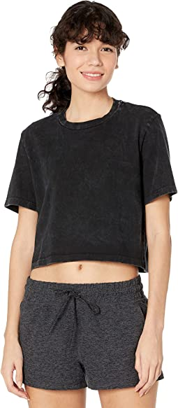 Stay In Oversized Cropped Tee