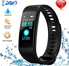 NUHIWIY Fitness Tracker,Activity Tracker,Heart Rate Monitor,Waterproof Smart Watch,Calorie Counter,Sleep Monitor,Pedometer,Fitness Tracker for Women,Men,Kids,Multi-Language,Android&iOS,Bluetooth