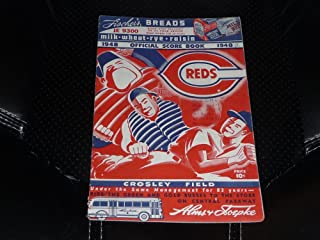 1948 CINCINNATI REDS BASEBALL PROGRAM VS CHICAGO CUBS