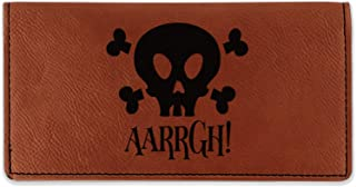 Pirate Leatherette Checkbook Holder - Double Sided (Personalized)